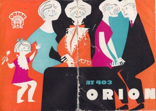 Orion Tisza televízió kezelési könyv  At-403