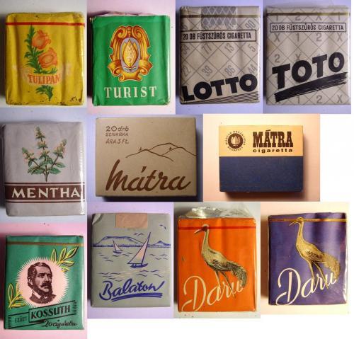 Cigaretták 60-as évekből