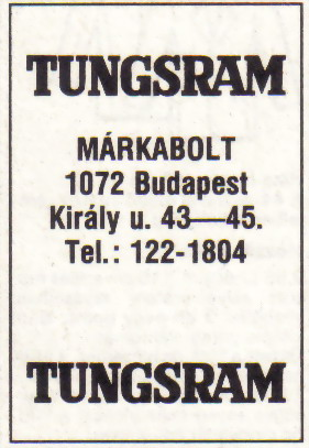 Tungsram márkabolt