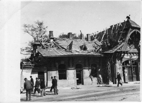 Bombázás után