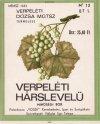 Verpeléti hárslevelű italcímke