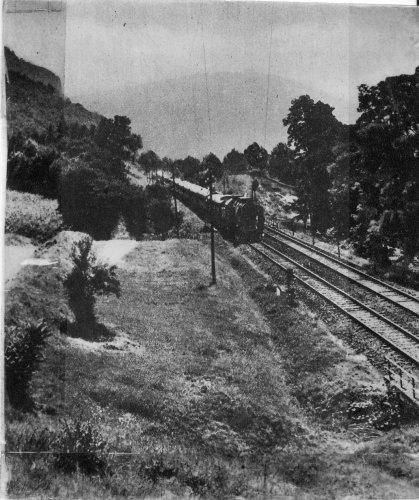 Zebegényi tájkép vonattal