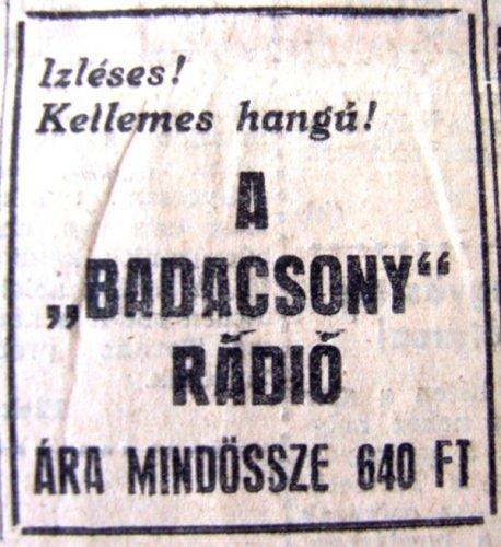 Badacsony rádió reklám