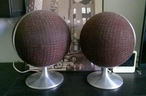 ITT Korona 1-70 gömb hangfal - Space age design