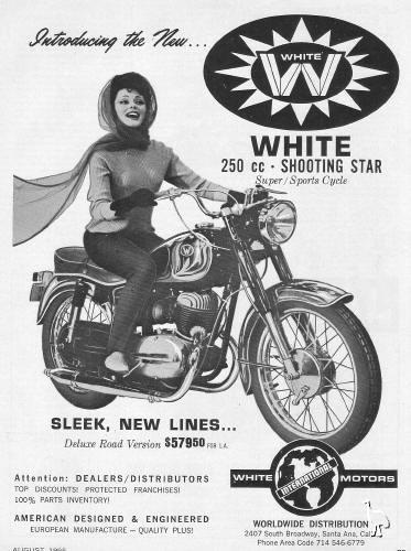White Pannónia motorkerékpár