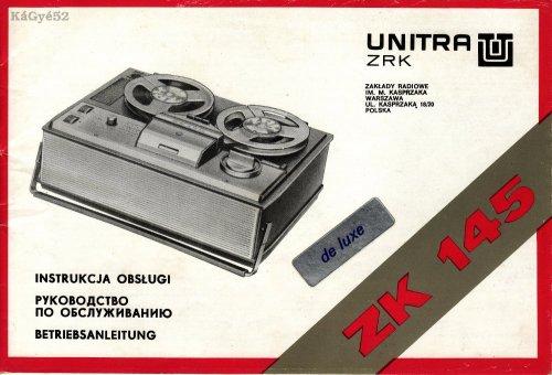 UNITRA ZK145 papírjai