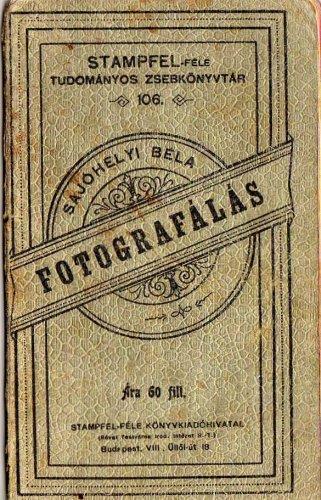 Fotografálás zsebkönyv 1900-ból