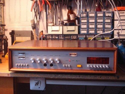 Német amatőr építésű rádió-erősítő