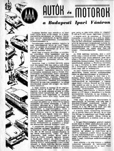 BIV 1960-ban autós szemmel
