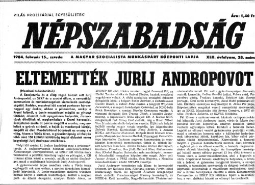 Eltemették Jurij Andropovot