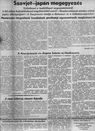 Szovjet-Japán békekötés