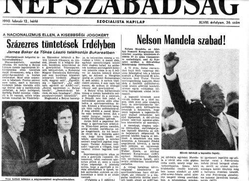 Nelson Mandela kiszabadult