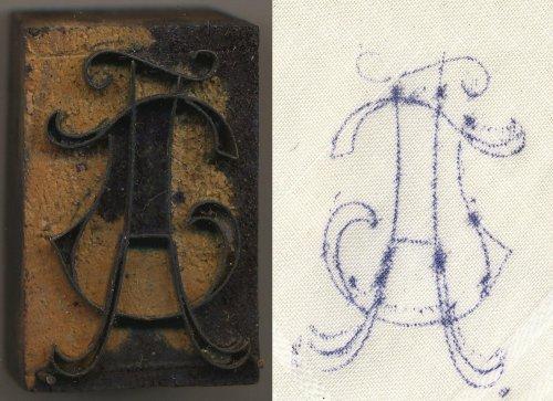 Monogramhímzéshez bélyegző