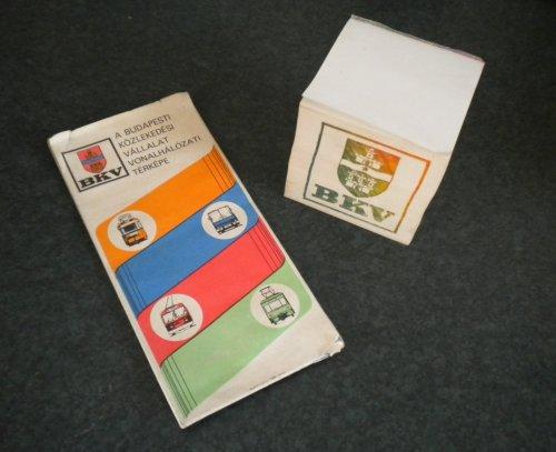 BKV térkép papírtömb