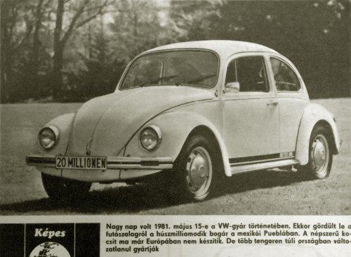Volkswagen bogár - húszmilliomodik
