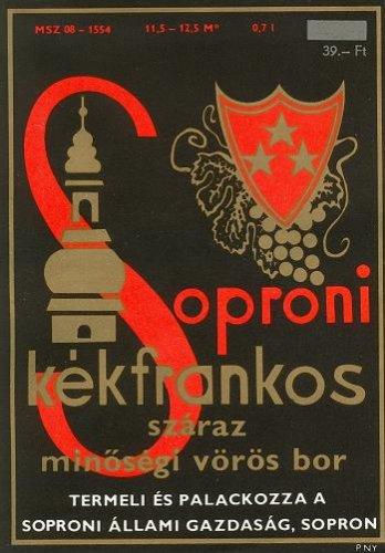 Boroscímke - Soproni kékfrankos