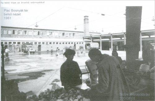 Piac - Bosnyák tér 1961 belső nézet