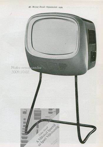 Televízió készülék Néptelevízió formaterv 1959 Bozzay Dezső