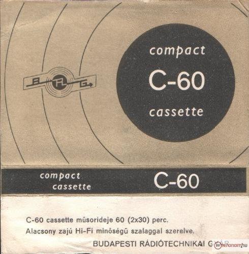 BRG C-60 Kazettacímke