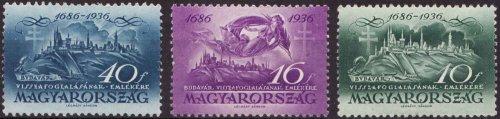 Budavár visszafoglalása  bélyeg