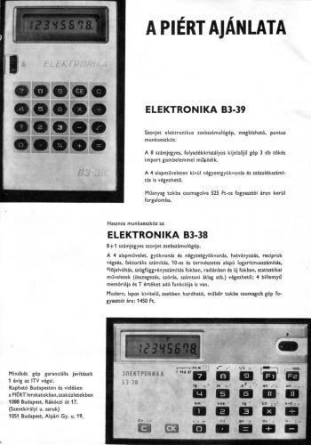 Elektronika számológép