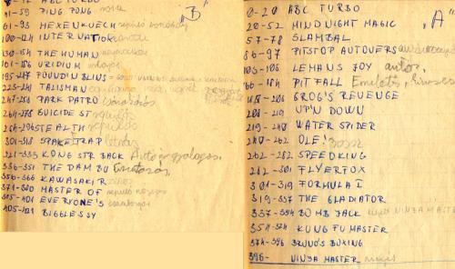 Commodore játék lista