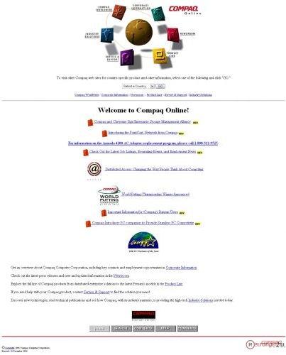Compaq weboldala