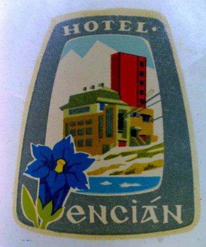 Hotel Encián bőröndcímke