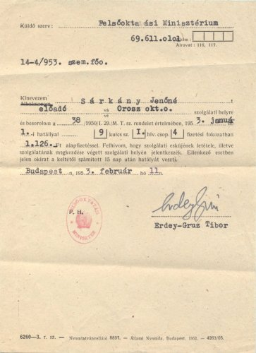 Erdey-Grúz Tibor aláírása