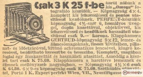 Fénykepezőgép hirdetés