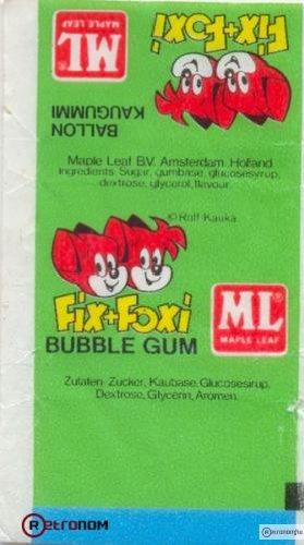Fix-Foxi rágógumi papír