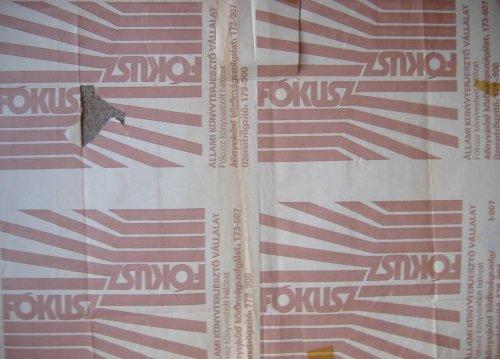 Fókusz Könyvesbolt csomagoló papír