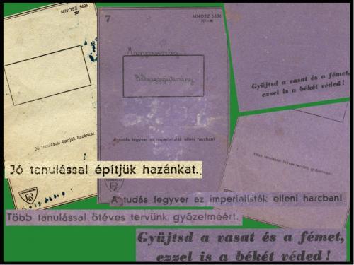 Iskolai füzetek feliratai