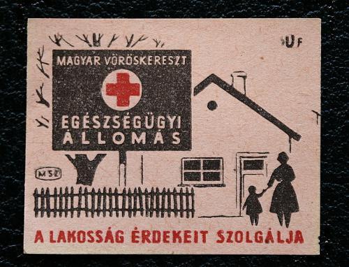 Vöröskereszt gyufacímke
