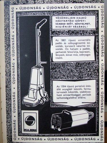 Hajdú porszívó és takarító gépek - reklám