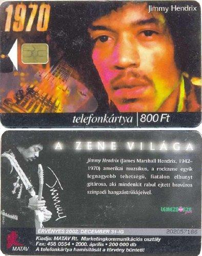 Telefonkártya Jimi Hendrix