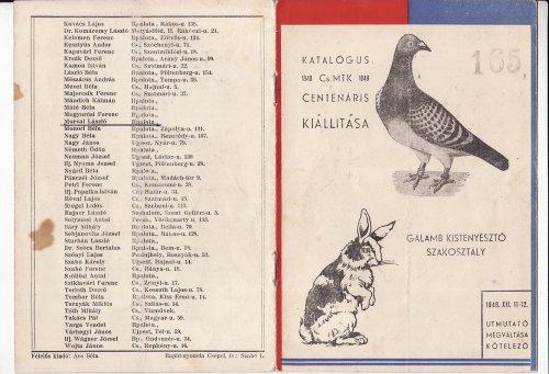 Galambkiállitás katalógus