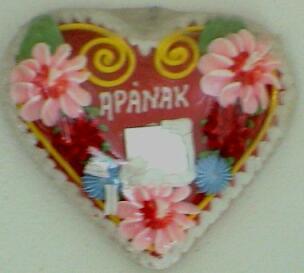 Mézecskalács szív