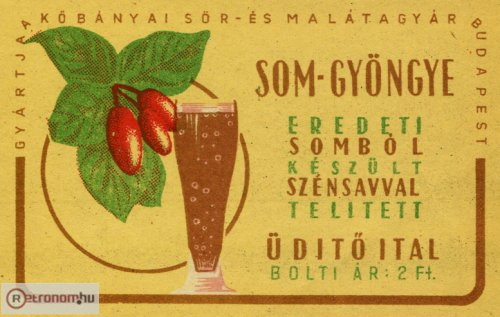 Som-gyöngye üdítő ital címke