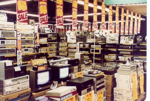 Japán Akihabara bevásárlóközpont - HIFI - 1983