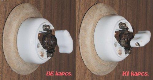 Porcelán villanykapcsoló