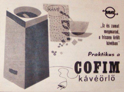 Cofim kávéörlő hirdetés