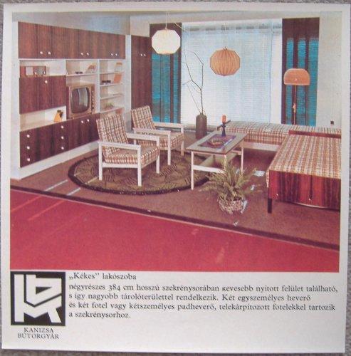 Kanizsa Bútorgyár Kékés lakószoba