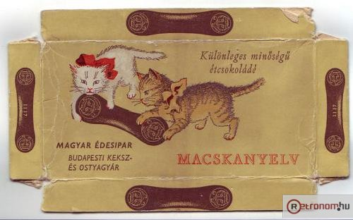 Macskanyelv csokoládé