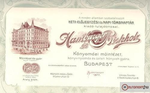 Hamburger és Birkholz könynyomdai müintézete