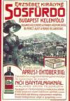 Erzsébet Királyné Sósfürdõ plakátja képeslap