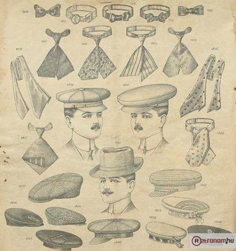 Férfi kalapok és nyakkendők
