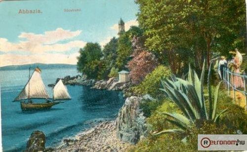 Abbazia képeslap