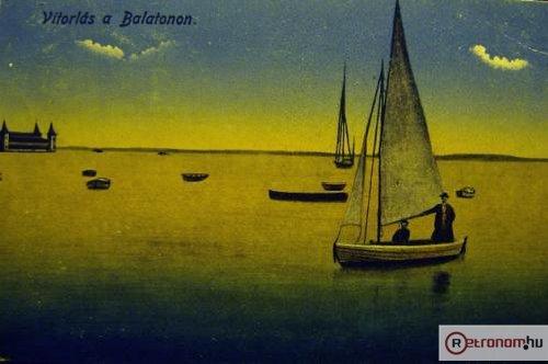 Vitorlás a Balatonon
