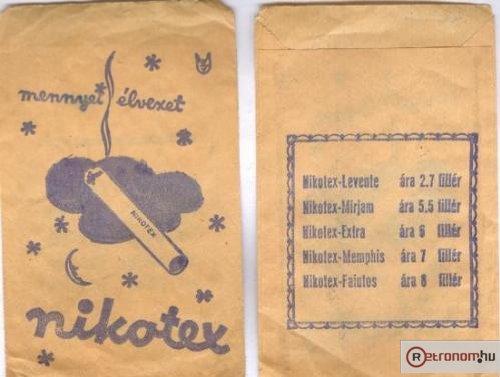 Dohánybolti papírzacskó Nikotex